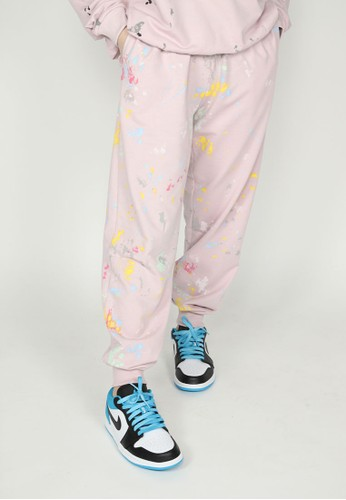 NOOB pink Jogger Grafitti - Dusty Pink 847E6AA95B0A6BGS_1
