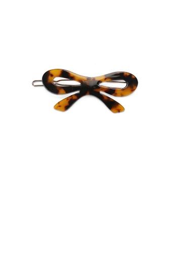 Glamorousky silver Fashion and Simple Tortoiseshell Ribbon Hair Clip 3776AAC3BC8C97GS_1