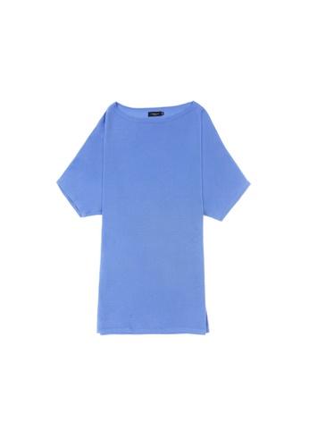 KLAPS purple Solid Tone Mini Knitted Dress AF06DAA251C455GS_1