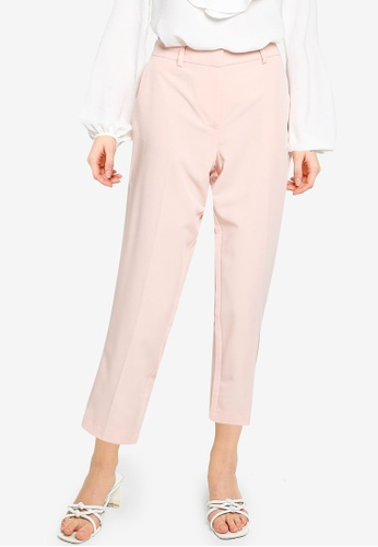Dorothy Perkins pink Petite Pale Pink Ankle Grazer Trousers B5437AA04FCCDAGS_1