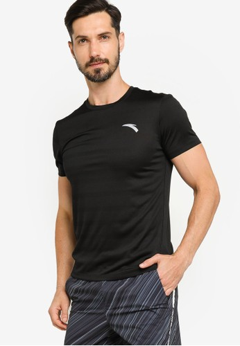 Anta black Running Short Sleeve Tee DE8AFAA02B4A1BGS_1