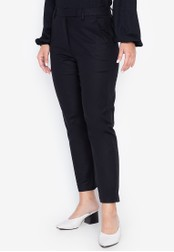 MARKS & SPENCER black Cotton Slim 7/8 Trousers 156C6AA668B798GS_1