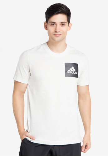 adidas 白色 LOGO印花T恤 A0C5AAA93ADD5FGS_1