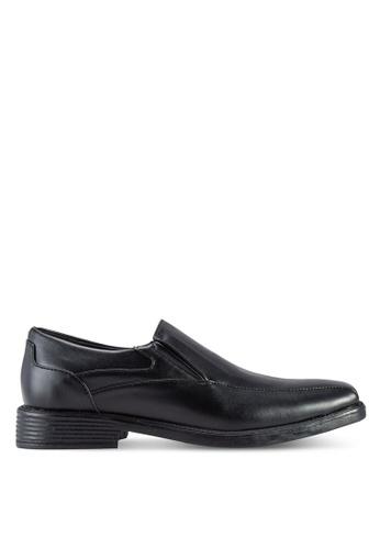 Frank Williams black Faux Leather Dress Shoes FR169SH36KHBMY_1