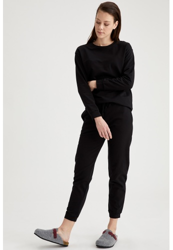 DeFacto black Woman Homewear Knitted Bottoms 86674AA5AF64BDGS_1