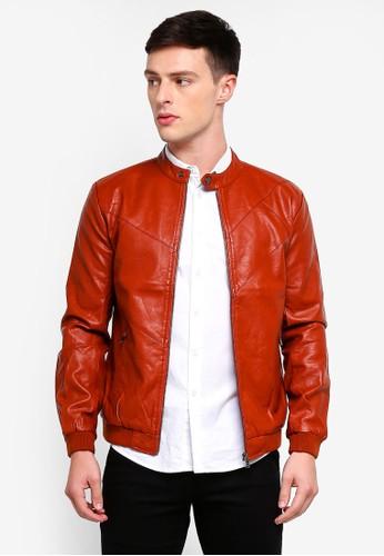 High Cultured brown Biker Jacket-59 F12FAAA9286F29GS_1