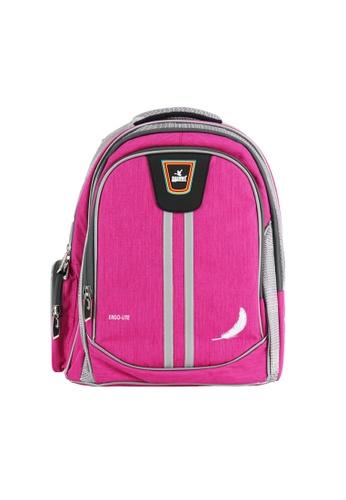 Swan pink Swan Bag New Design Ergolite Ergonomic Spinal Protection Children Back Support Spacious School Bag Very Light Kids Bag-Pink FB2EBKC9605F90GS_1