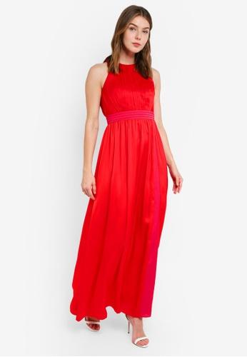 Little Mistress red Satin Dress B37ECAA73ACB4AGS_1
