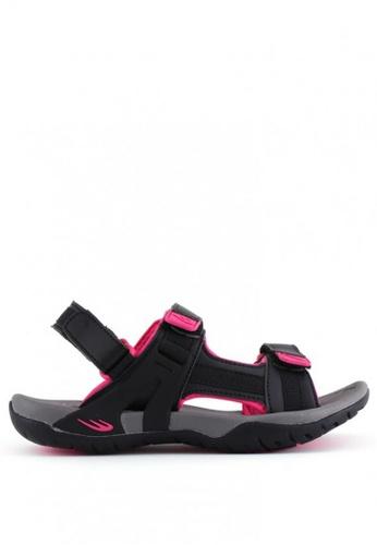 World Balance black Jayla L Sports Sandals FCFDCSH7D78A95GS_1