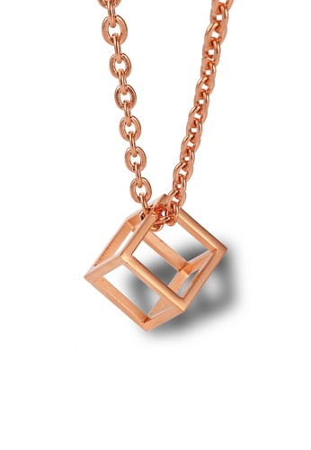 CELOVIS gold CELOVIS - Constance Geomatric Square Pendant Necklace in Rose Gold D7ACFAC21481AAGS_1