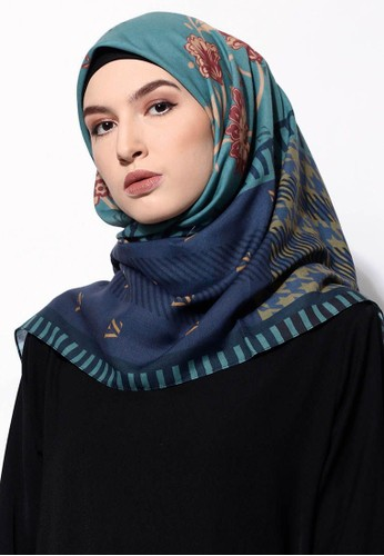 Vivi Zubedi green and blue and grey Maulvie Scarf 5C269AA21BD835GS_1