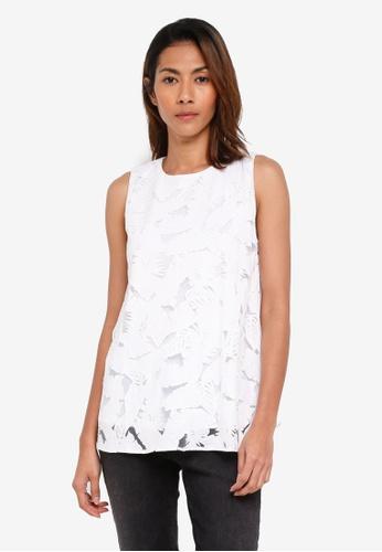 ESPRIT white Sleeveless T-Shirt 5726AAA4706604GS_1