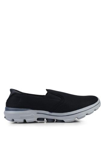 UniqTee 黑色 輕巧懶人運動鞋 F7E77SHA1AF0FDGS_1