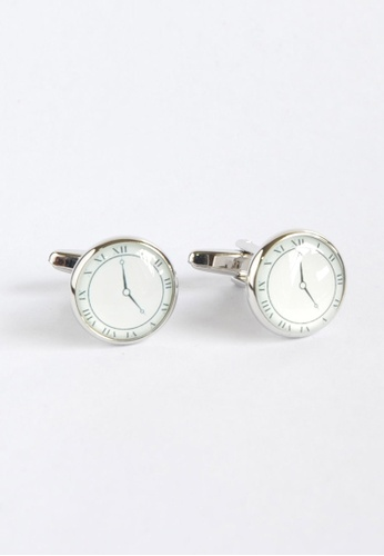 Splice Cufflinks Classic Clock Face Cufflinks 2 SP744AC28XYDSG_1