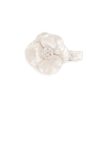Glamorousky white Fashion Temperament White Camellia Hair Slide with Cubic Zirconia 1431AACE4C661AGS_1
