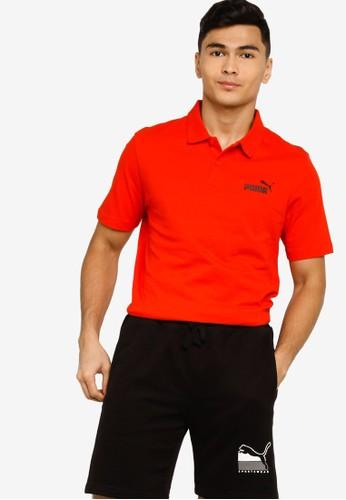 PUMA red Puma Sportstyle Core Ess Jersey Polo Shirt E9A28AA037ABC8GS_1