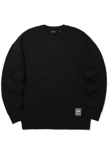 Fivecm black Logo print fleece sweater C8F68AAACE227EGS_1