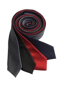Microcheck Slim Necktie Combo B