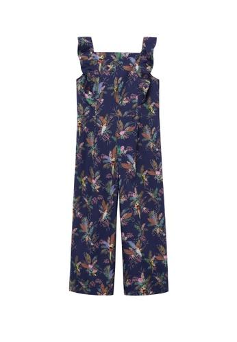 MANGO KIDS blue Cotton Print Jumpsuit 6F639KAEAFF525GS_1