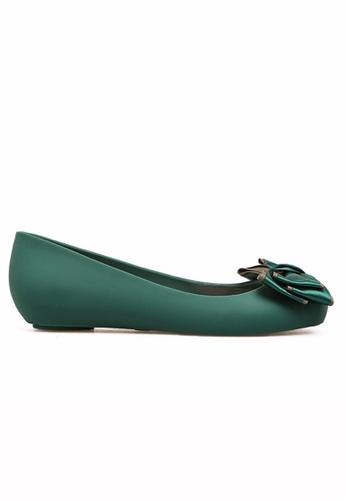 Halo green Bow Waterproof Flats Shoes 4D2F8SH7FD95F8GS_1