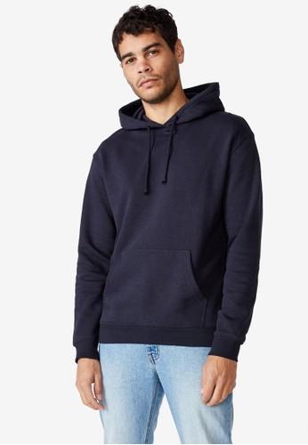 Cotton On blue Essential Fleece Pullover Hoodie 1E59BAA5EEF35CGS_1