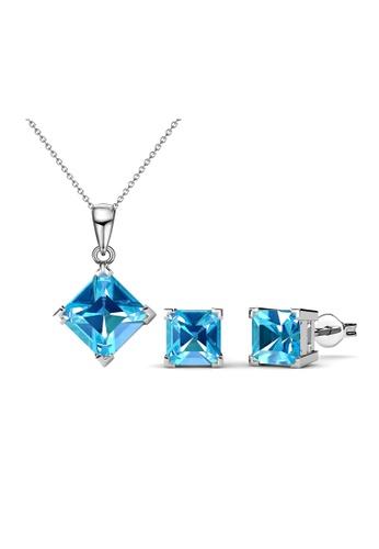 Her Jewellery blue Princess Set (Light Blue) - Crystals from Swarovski® HE210AC0FSU3SG_1