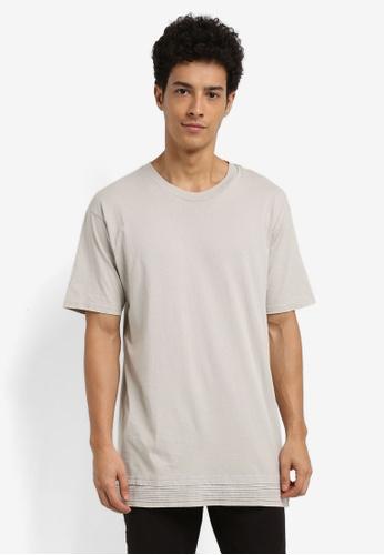 Cotton On 多色 褶飾拼接T恤 04138AA80B5AE1GS_1