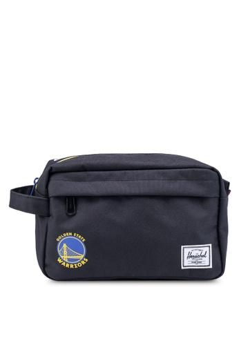 Herschel black Chapter Travel Pouch (Golden State Warriors) 72264AC1591FAEGS_1
