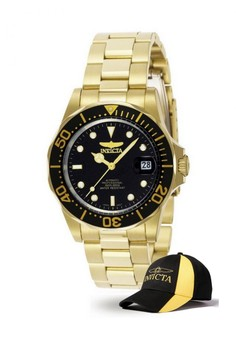 Pro Diver Men 40mm Case Automatic Watch 8929 with FREE Baseball Cap