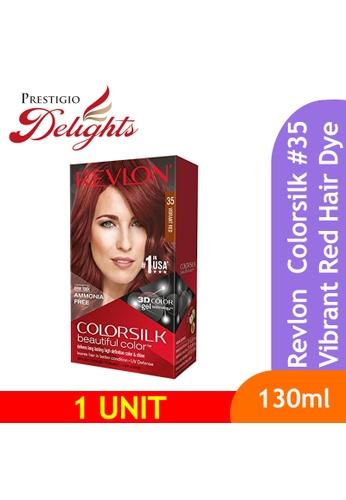 Prestigio Delights red Revlon  Colorsilk 3D Hair Color Ammonia Free Hair Dye - 35 Vibrant Red CABF8BED7CF51FGS_1