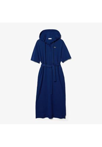 Lacoste Lacoste Women's Oversized Hooded Organic Cotton Piqué Polo Dress 3A12AAA9E82D7EGS_1