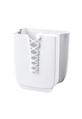 HOUZE white HOUZE - Foldable Hanging Laundry Basket (White) 3034DHLF9A8FCEGS_1