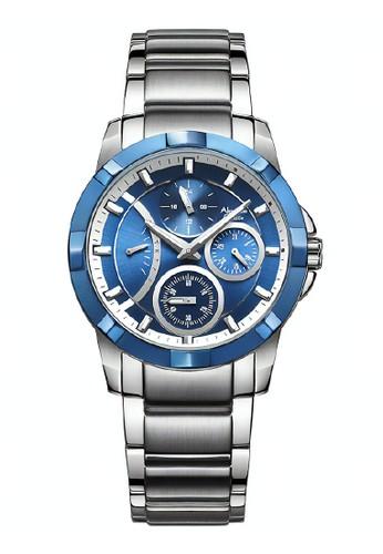 Alexandre Christie silver Alexandre Christie Jam Tangan - Silver Dark Blue - Stainless Steel - 2503 BFBTEBU  368D1AC9B0C957GS_1