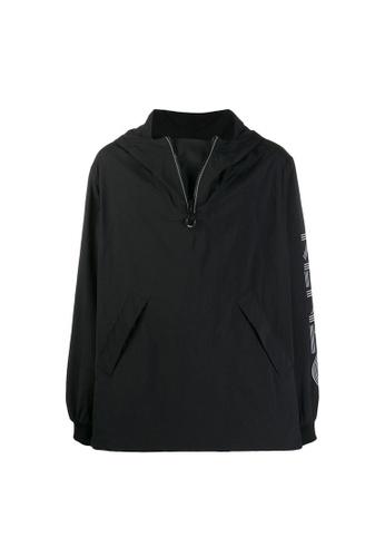 Kenzo black Kenzo Logo Windbreaker in Black 5D8C0AA09ED853GS_1