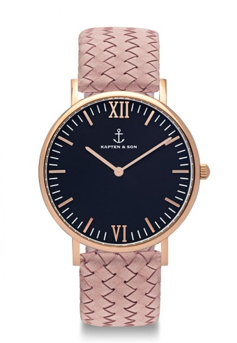 """Kapten & Son pink Campus """"Black Rose Woven Leather"""" 3CDF3AC7995C05GS_1"""