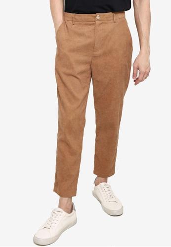 ZALORA BASICS beige Corduroy Hidden Drawstring Pants 0C4C6AAFC965E8GS_1