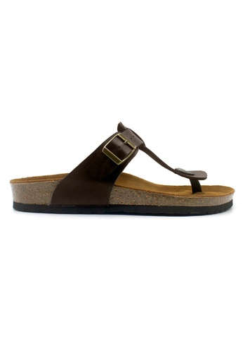 SoleSimple 褐色 Copenhagen - 深棕褐色 百搭/搭帶 全皮軟木涼鞋 0F456SHC4C6F9DGS_1