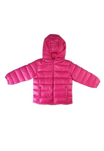 Babybol pink Puffer Jacket C1366KAED50300GS_1