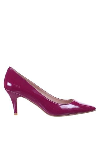 PRODUIT PARFAIT purple Patent Stiletto Heel Pumps 55F1DSH07CEDFBGS_1
