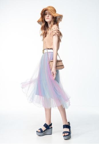 iROO purple Tulle Skirt 6BA6CAA3E2F71BGS_1