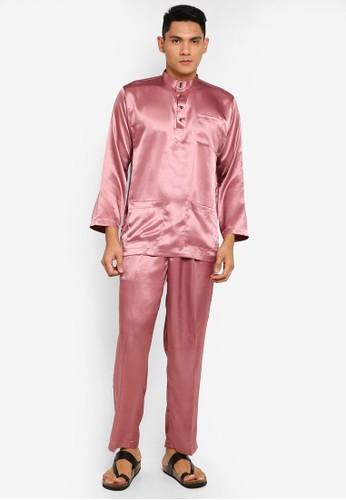 Gene Martino pink Tradisional Baju Melayu 462C0AAABB4E96GS_1