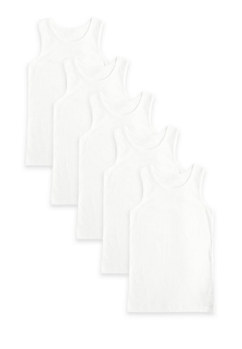 MARKS & SPENCER white 5 Pack Pure Cotton Vests 2A20AKA26AD47FGS_1