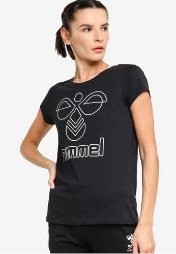 Hummel black Senga Short Sleeve T-Shirt 4945CAA43D771FGS_1