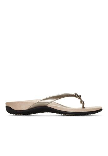 Vionic grey Bella Toe Post Sandal 82326SHC19D4E7GS_1