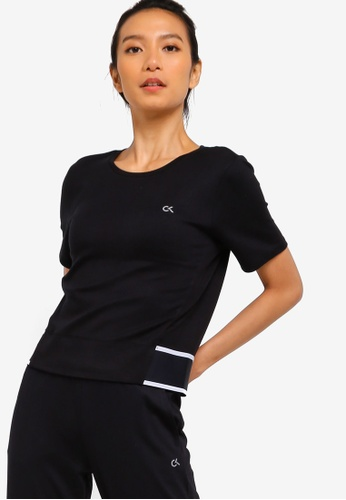 0bc2bee3dc1a4 Calvin Klein black Active Icon Hem Short Sleeves Tee - Calvin Klein  Performance BE6B1AA9F1A716GS 1