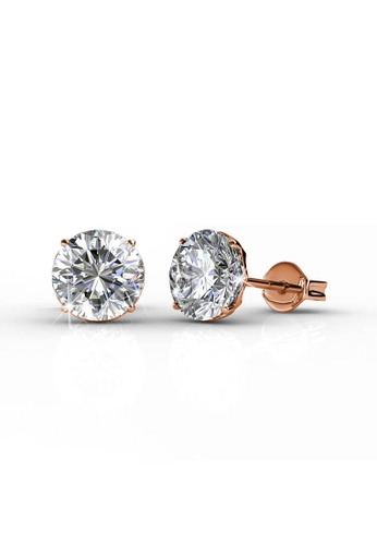 Her Jewellery gold Kristine Earrings (Rose Gold) -  Embellished with Crystals from Swarovski® 4287BAC152C00AGS_1