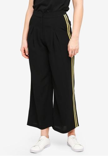 Something Borrowed black Side Stripe Trim Pants DE367AA5602062GS_1