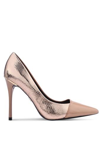 River Island 粉紅色 粗跟高跟鞋 E2030SHCE9B8F5GS_1