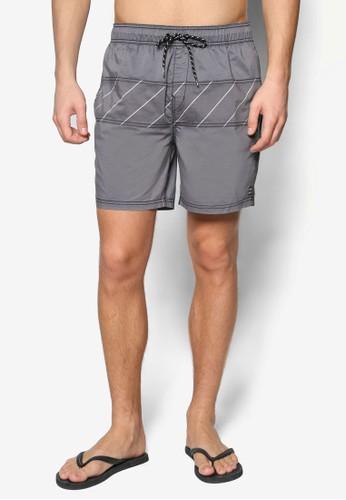 Tribong 針縫拼接細條紋短褲, 服飾, 運zalora 包包 ptt動