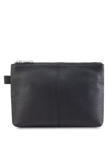 Simple esprit台灣Leather Make-Up Bag, 包, 簡約優雅風格